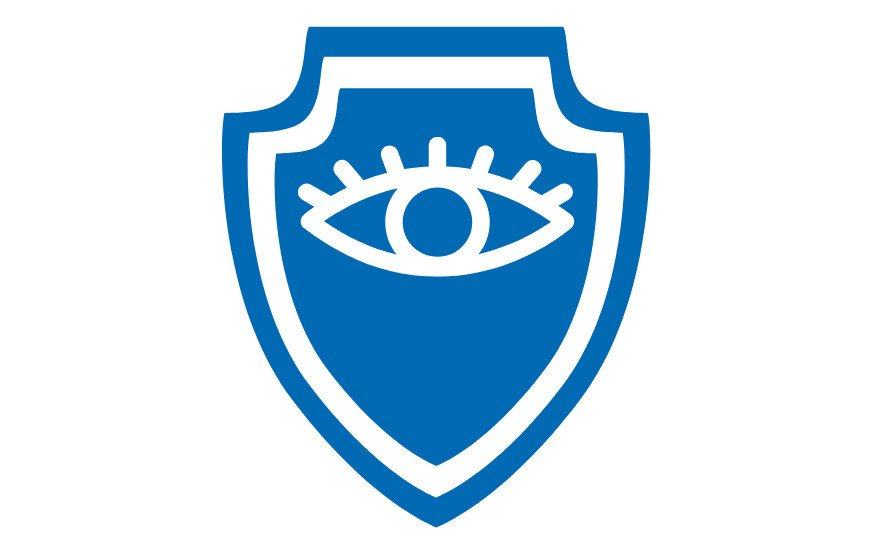 A shild with an eye on it, symbolizing GDPR principles