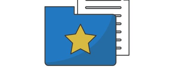 A folder with a star on it, containing one document, symbolizing Best Practices in Software Documentation.
