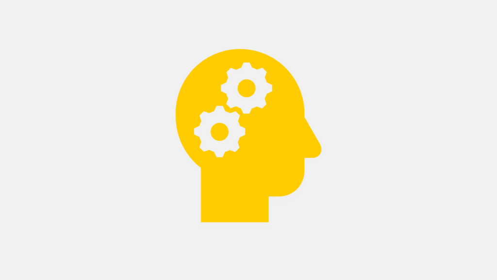 Head with Gear Wheels symbolizing AI (Artificial Intelligence)